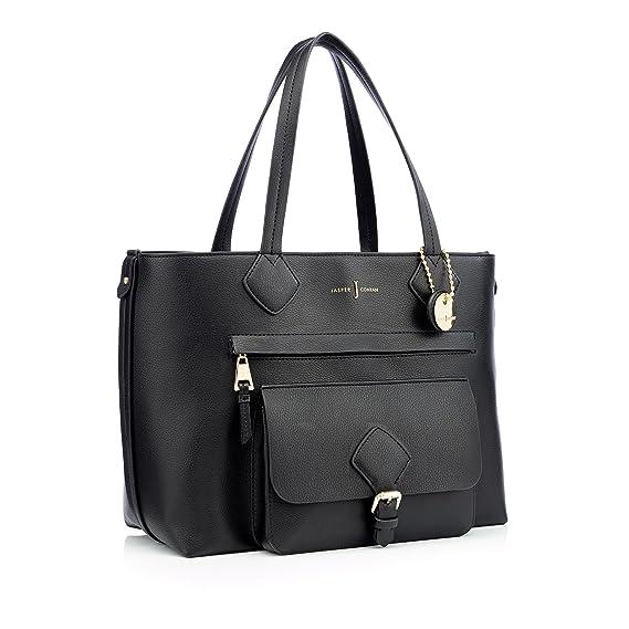 144b5e870049 J By Jasper Conran Black Textured Finish  Strawberry Hill  Shopper Bag  J  by Jasper Conran  Amazon.co.uk  Clothing