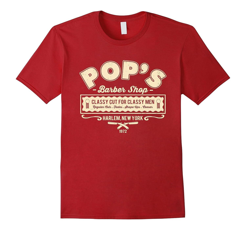 Pops barber Shop T-Shirt  Harlems Barber shop T-Shirt-RT
