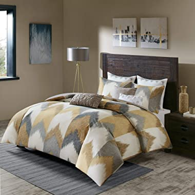 Ink+Ivy Alpine Cotton Comforter Mini Set Yellow King/Cal King