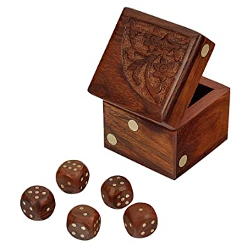 Amazon Com Fine Craft India Dice Game Set Of 5 Dices With