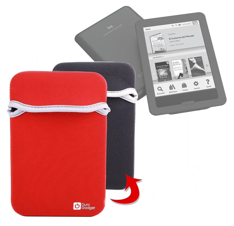 DURAGADGET Funda Reversible De Neopreno Roja y Negra para eBook BQ ...