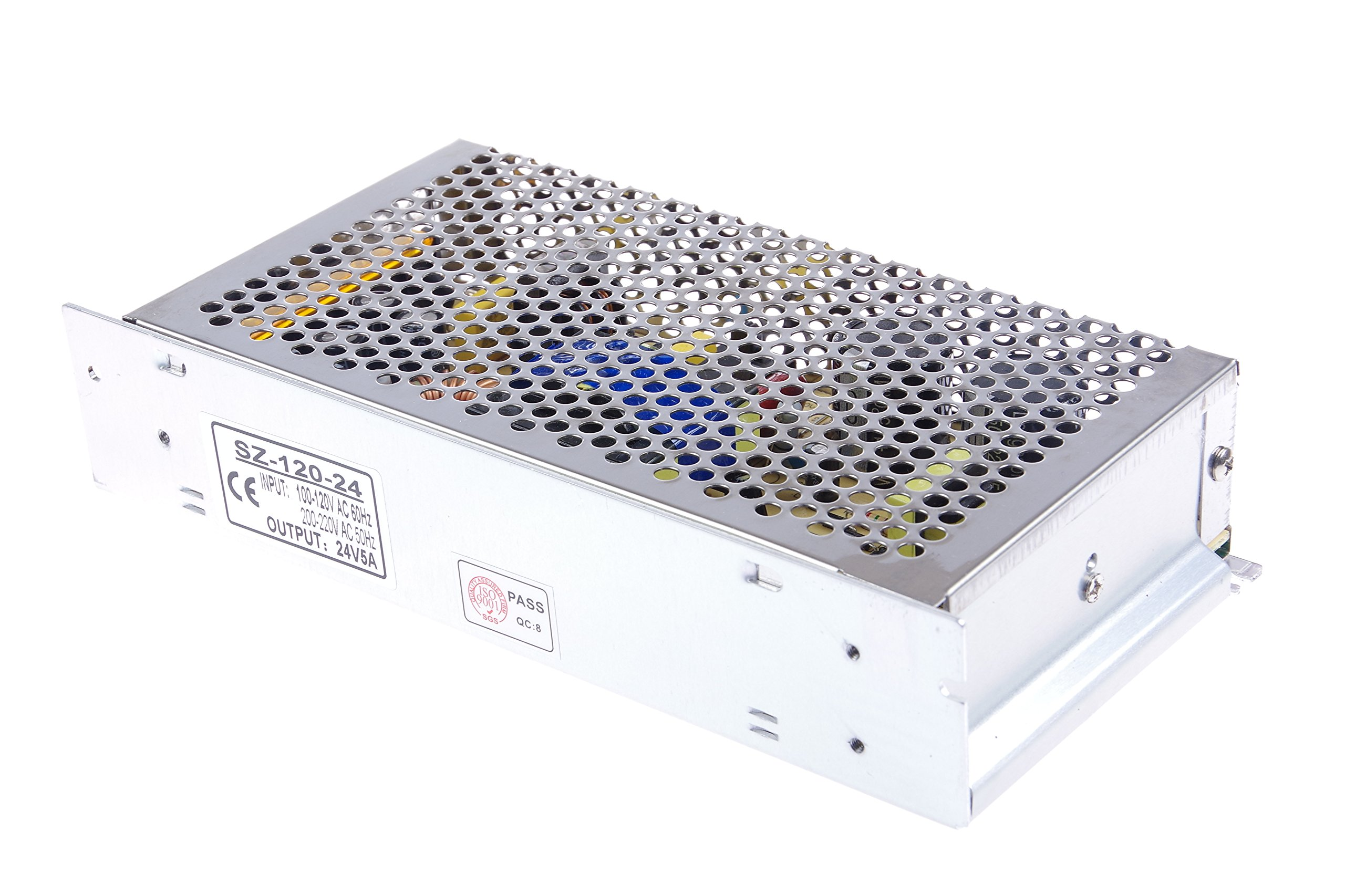 LM YN 110V/220V AC to DC 24V 5A 120W Switching Power Supply Driver,Power Transformer for CCTV camera, Security System, LED Strip Light, Radio, Computer Project by LM YN (Image #4)