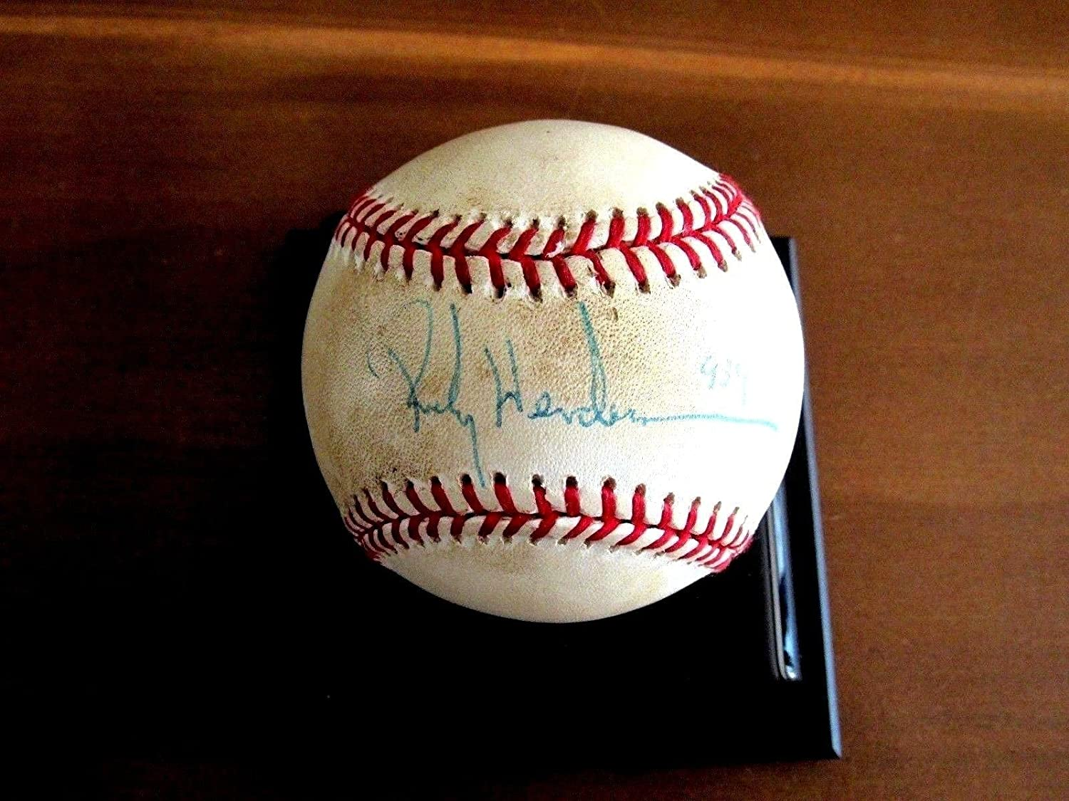 Rickey Henderson A s Stolen Base 939 Record Hof Signed Auto Gu Baseball -  PSA DNA Certified - MLB Game Used Baseballs at Amazon s Sports Collectibles  Store 05a765a1a