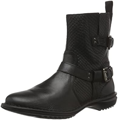 camel active Women's Niagara 72 Ankle Boots, (Black 01), 7