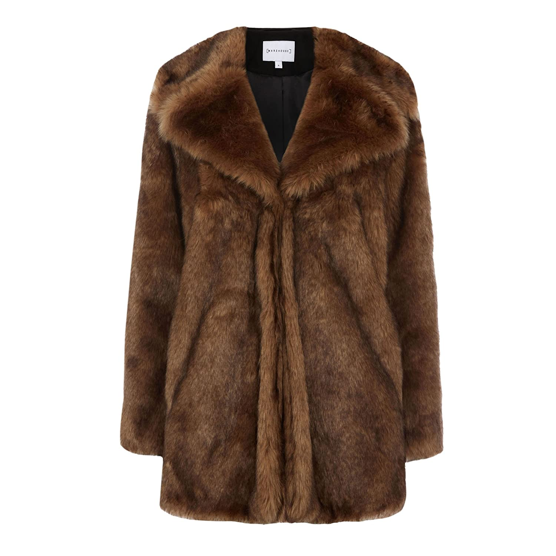 【使い勝手の良い】 (ウエアハウス) WAREHOUSE coat Faux fur Brown coat fur/ ファックスファーコート (並行輸入品) B077P59D89 UK-10|Brown Brown UK-10, トオカマチシ:646e369d --- a0267596.xsph.ru