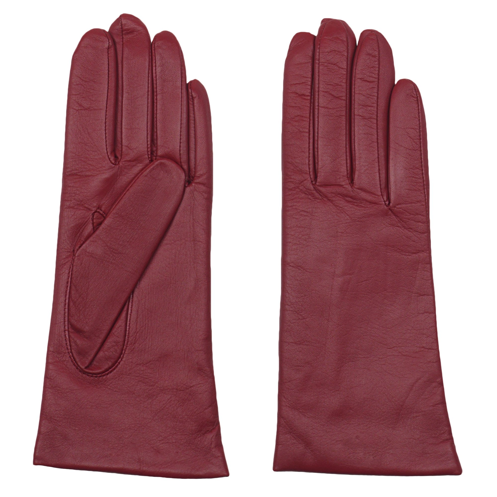 GRANDOE Womens Sheepskin Leather Glove, Cashmere Lined, Chic Modern Winter Wear, Red, M