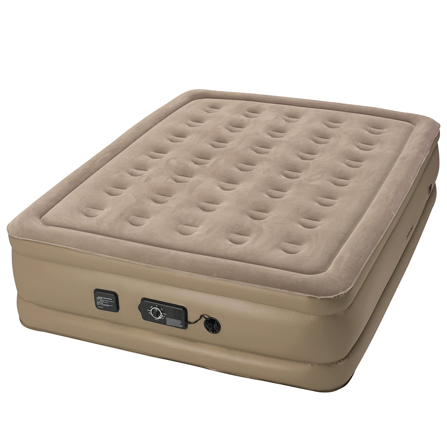 Insta-Bed Raised Air Mattress with Never Flat Pump Grey Queen Wenzel Company 840017G