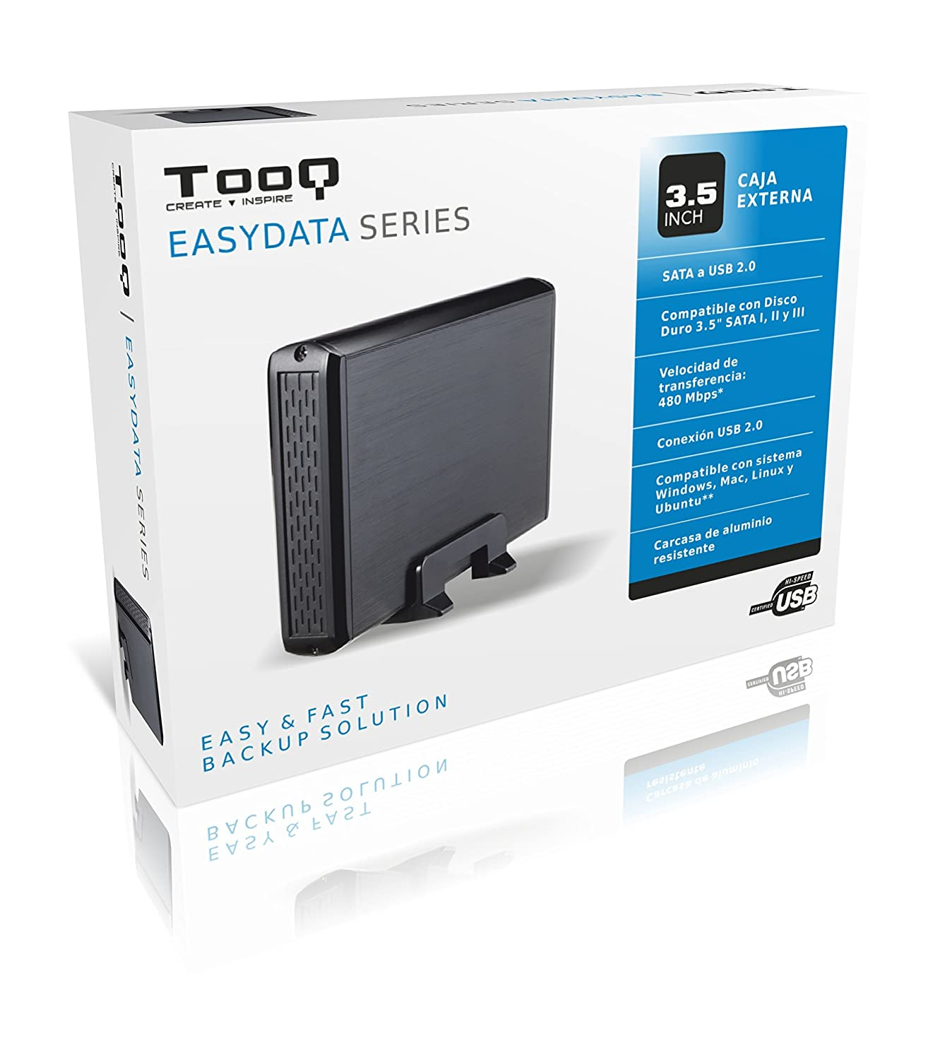 Amazon.com: Tooq TQE-3509B Case for Hard Disk Black ...