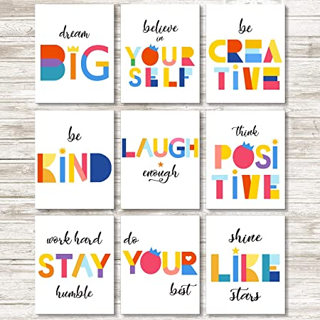 Inspirational Quotes motivational Life  Love Watercolour wall Canvas choose size