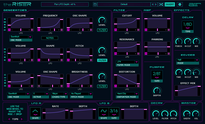 The Riser -  Synth-based Transition Designer [Download] by AIRMUSICTECH