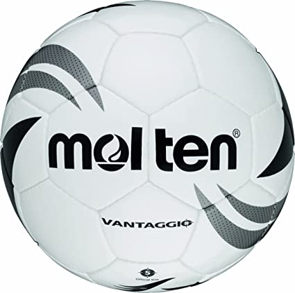 Molten - Balón de fútbol, color blanco/plateado/negro, talla 5 ...