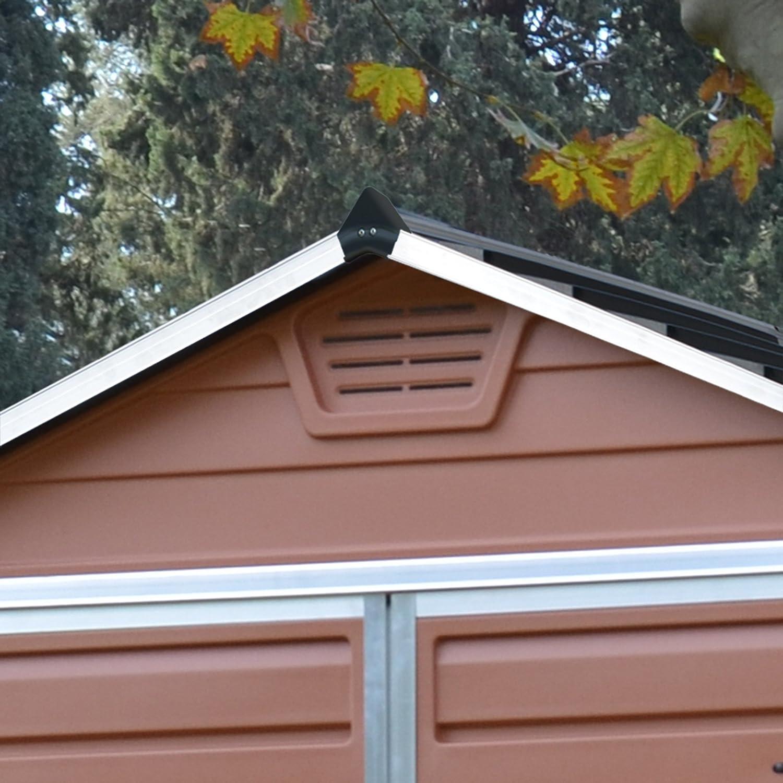 Caseta de jardín Palram SkyLight 4x6 de policarbonato: Amazon.es: Bricolaje y herramientas