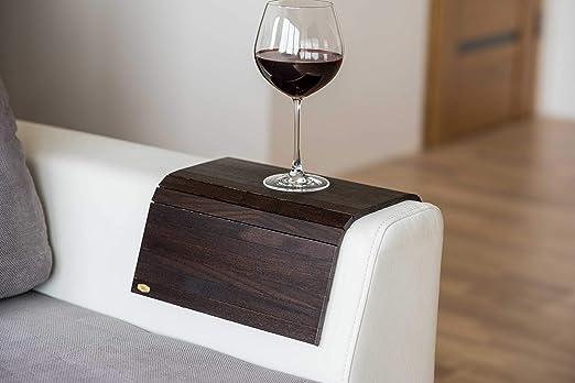 Bandeja de brazo de madera para sofá o sofá, con protectores de ...