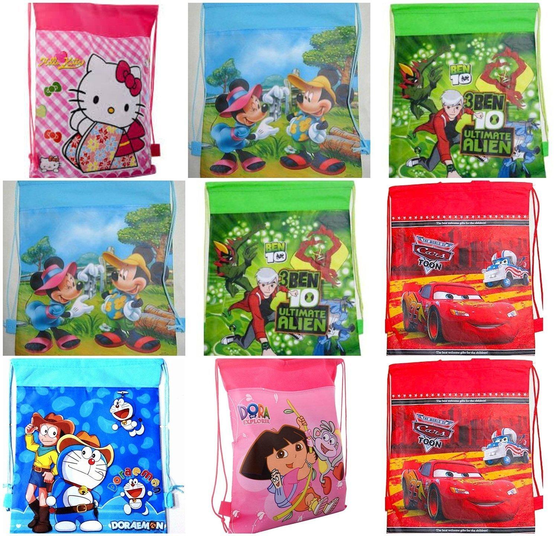 RIANZ Cartoon Character Dori Bag Haversack Gift Bags For Birthday Return Gifts Christmas Kids Design May Vary Set Of 6 Amazonin Sports