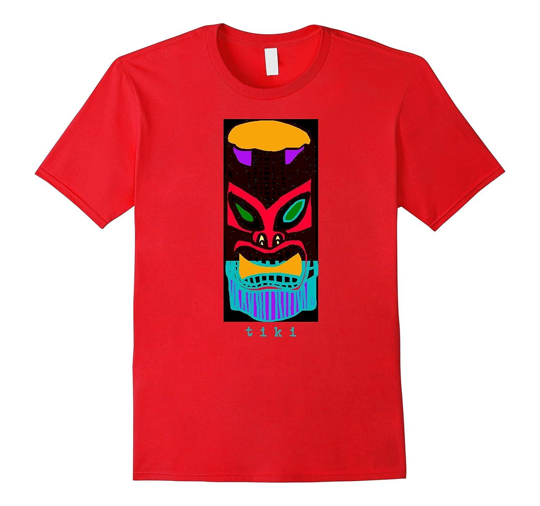 Tiki Bar Island Totem Tropical Party T-Shirt Tee Shirt-Teevkd