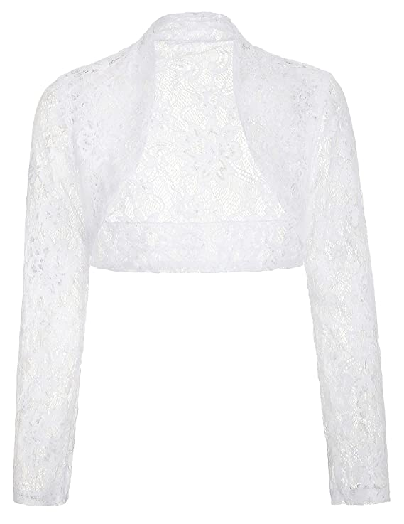 Victorian Blouses, Tops, Shirts, Sweaters Belle Poque Womens Long Sleeve Floral Lace Shrug Bolero Cardigan JS49 $16.99 AT vintagedancer.com