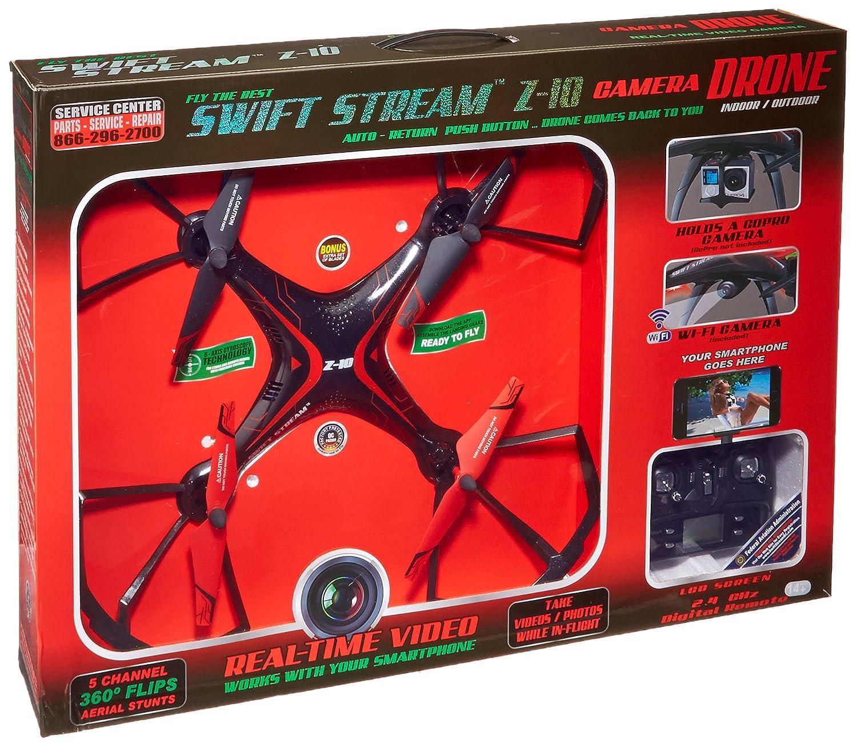 Amazoncom Swift Stream Indooroutdoor Z 10 Camera Drone Black