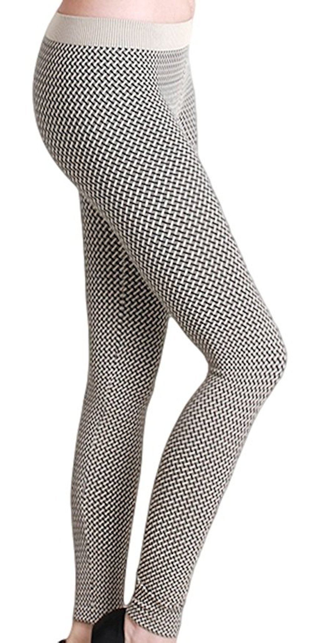 Nikibiki Women's Long Length Thick Assorted Leggings (Weave Stone)