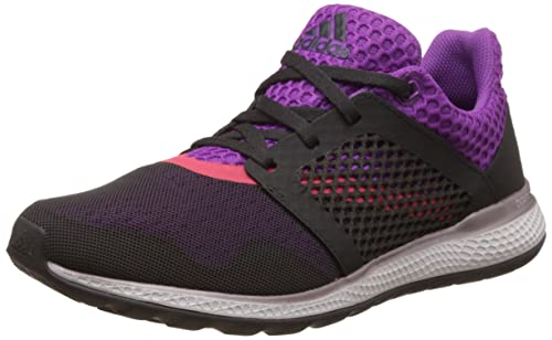 adidas Women's Energy Bounce 2 W Running Shoes, Black (Neguti/Negbas/Pursho