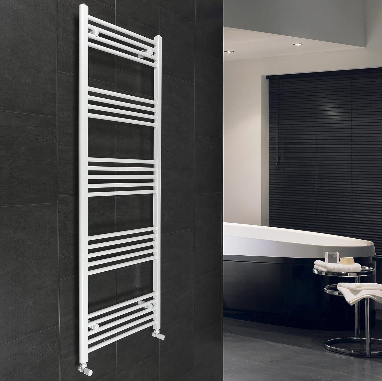 600 mm de ancho x 1600 mm alto recta blanco toallero escalera baño calentador del radiador rack Calefacción central: Amazon.es: Hogar