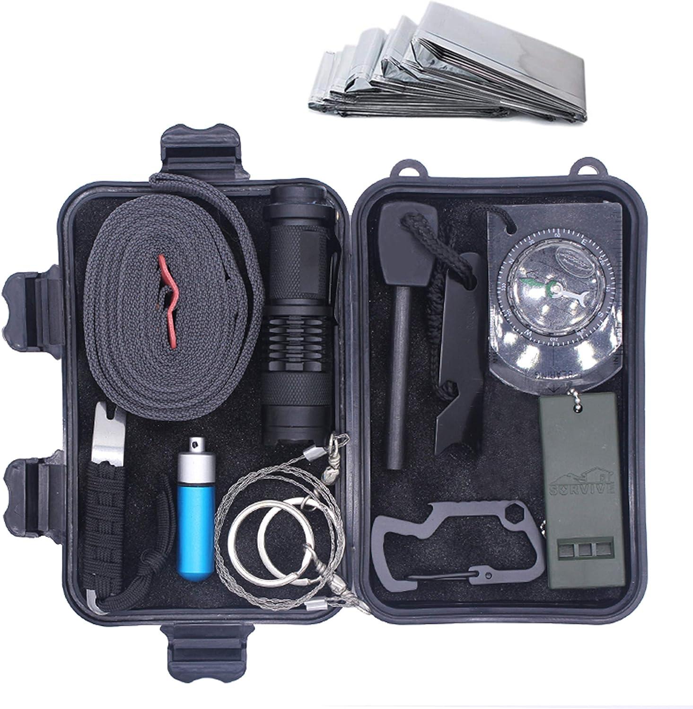 GR8 Kit de supervivencia para exteriores 11 en 1 equipo profesional de supervivencia de emergencia SOS