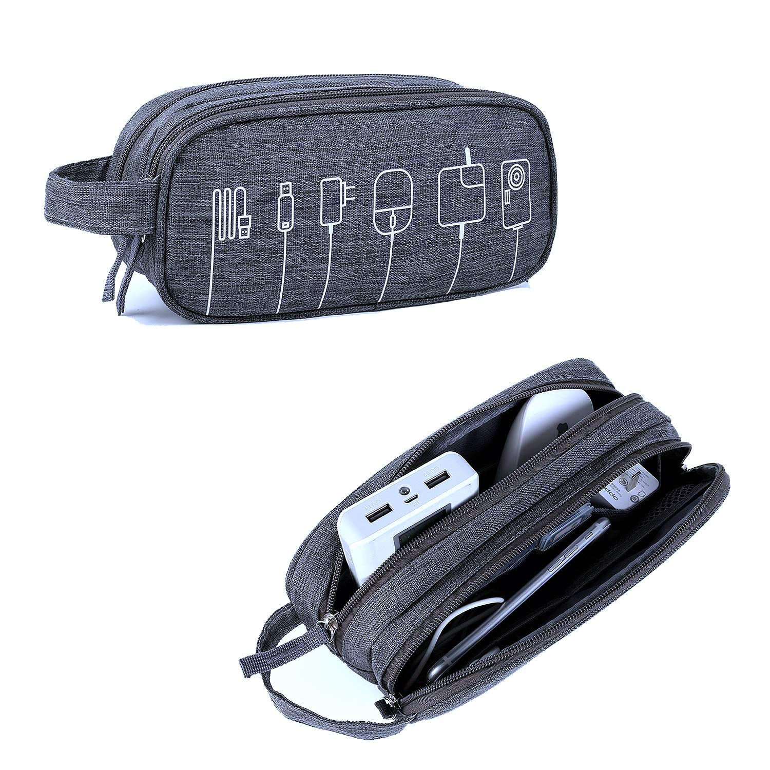 Cable Organizer Bag Computer Accessories Case Travel Accessory Organizer for Various USB, Phone, Charger and Cable