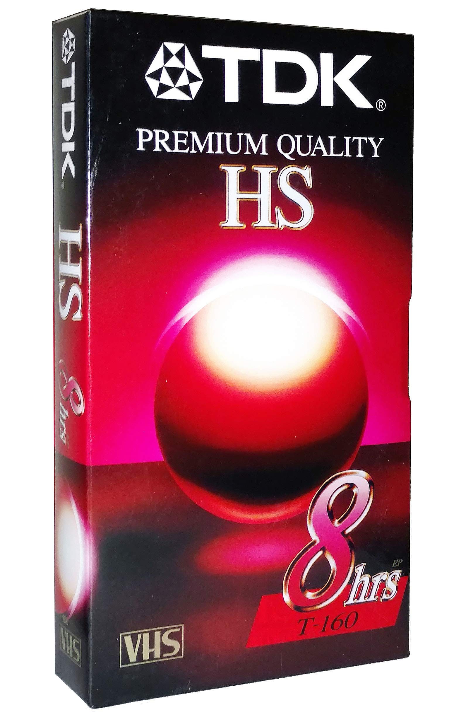 TDK Premium Quality HS T-160 8 Hour EP Video Cassette Tape - Ideal for everyday recording and playback of your favorite programs - High quality performance, even under repeated use by TDK