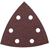 Bosch SDTR060 Detail Triangle, Hook & Loop Sanding Sheet, Red, 60 Grit, 5-Pack