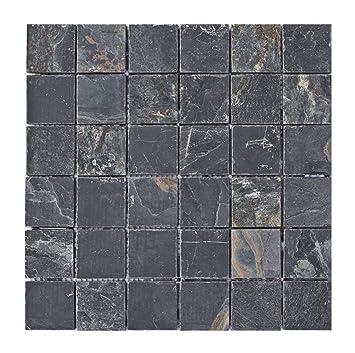 S-006 Schiefer Naturstein-Mosaik Wand + Boden Design Bad-Fliesen ...
