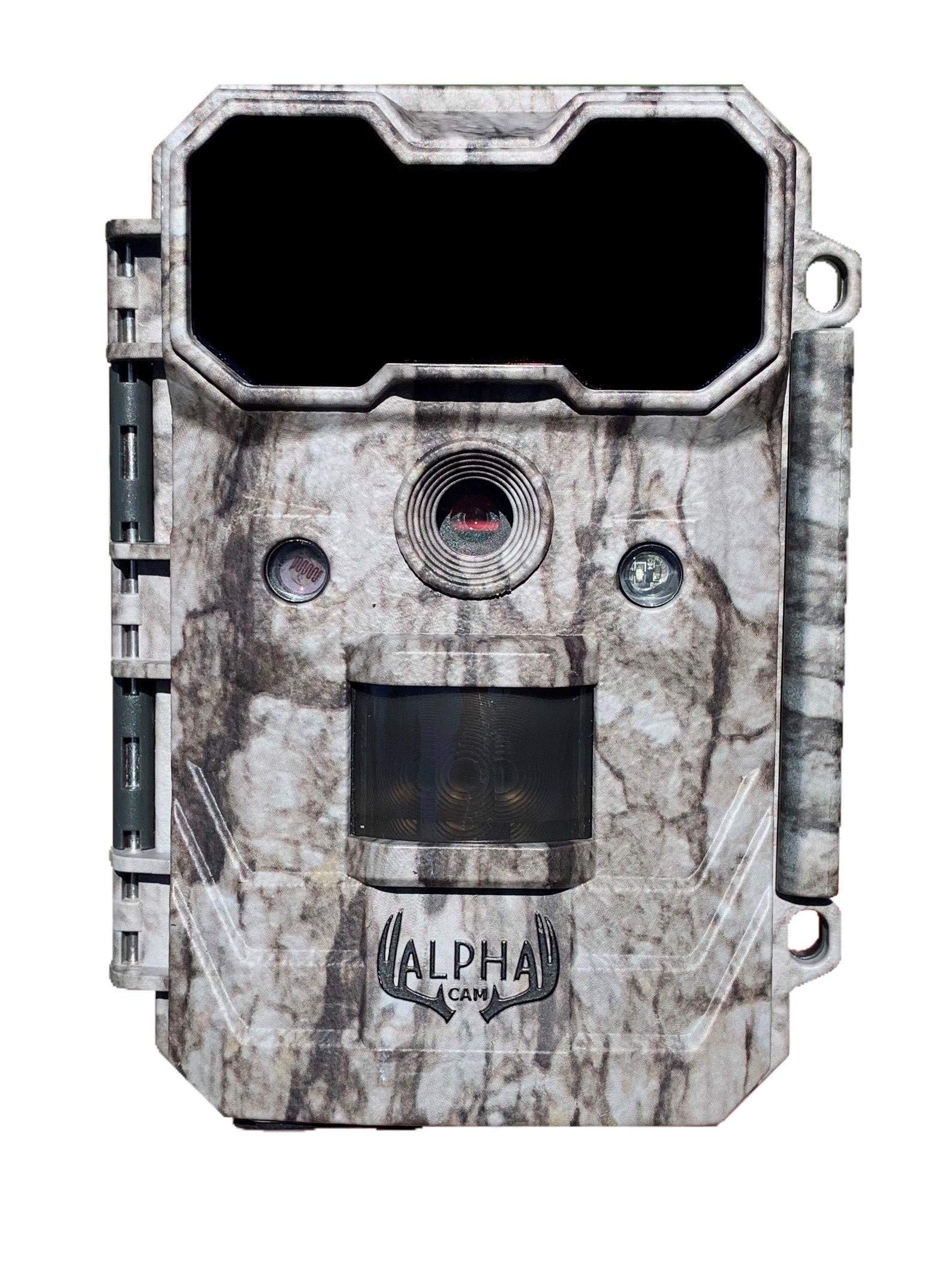 Alpha Cam Hunting Trail Camera 20MP 1080p 30fps Waterproof Scouting Cam with Ultra Fast Trigger Speed and Recovery Rate 2.4'' Color Viewscreen 48 IR LEDs