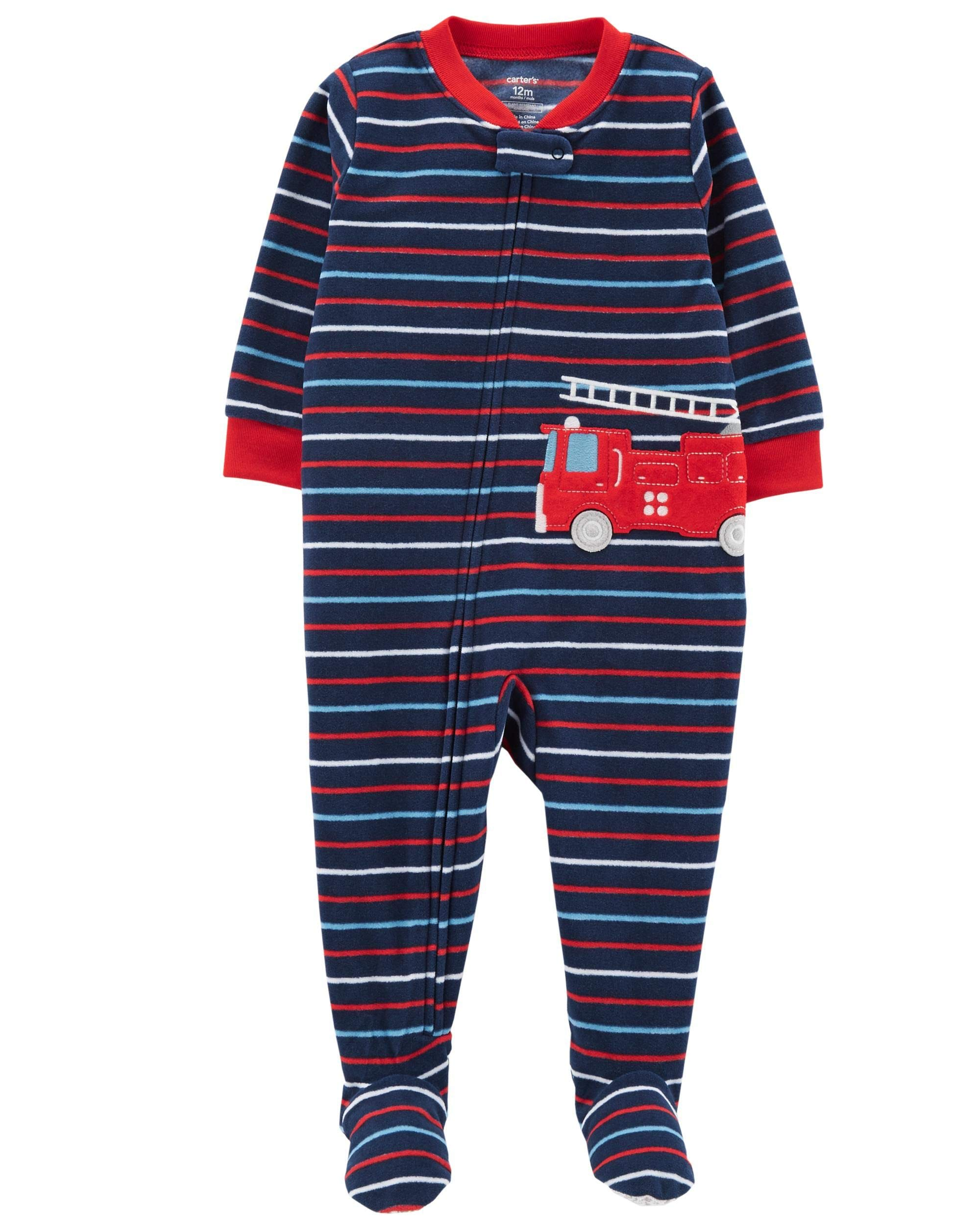 dfd898ea8 Galleon - Carter s Baby Boy s One Piece Fleece Pajamas 12M-5T