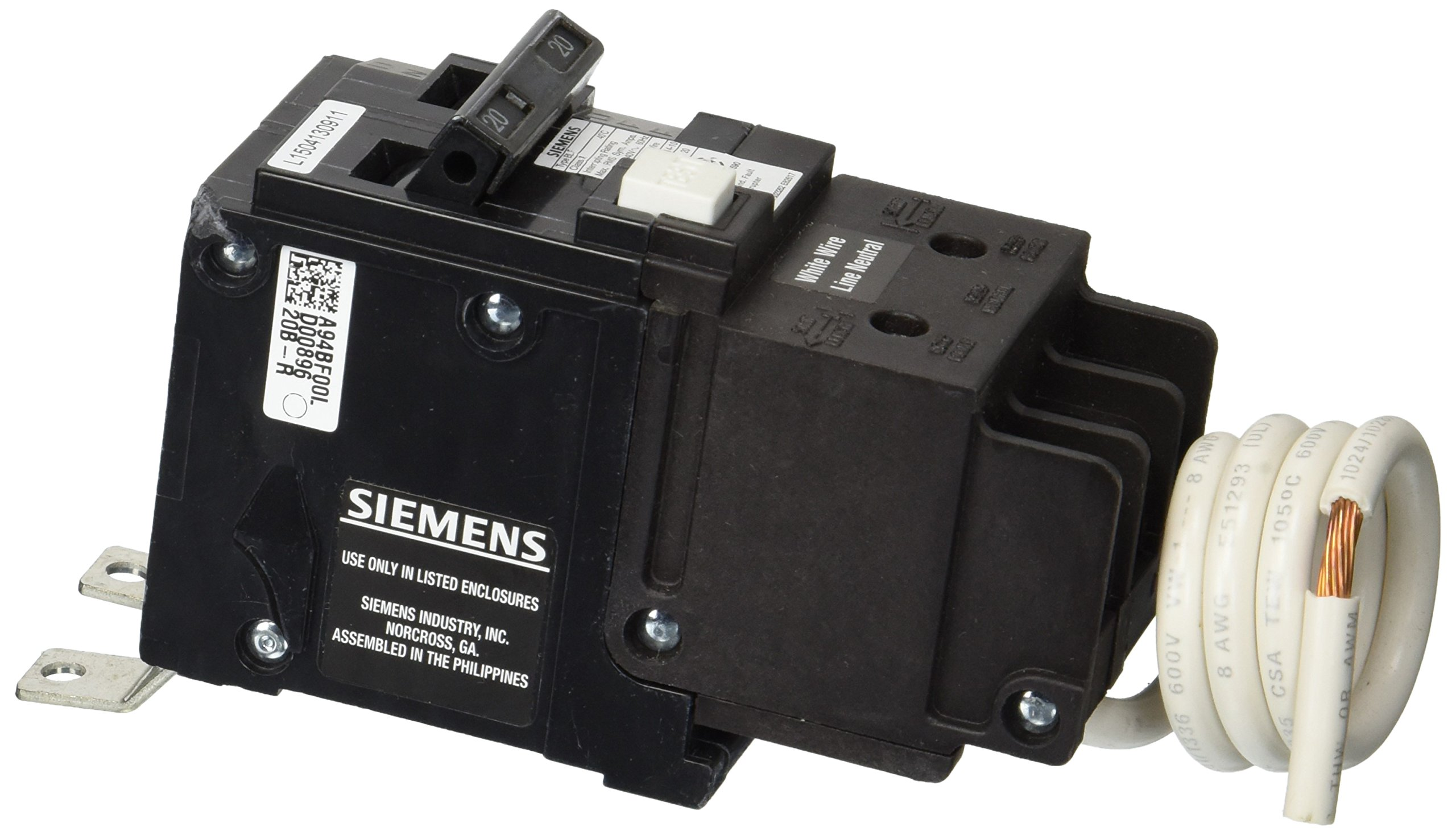 Siemens BF220 20-Amp Double Pole 120/240-Volt 10KAIC Ground Fault Circuit interrupter