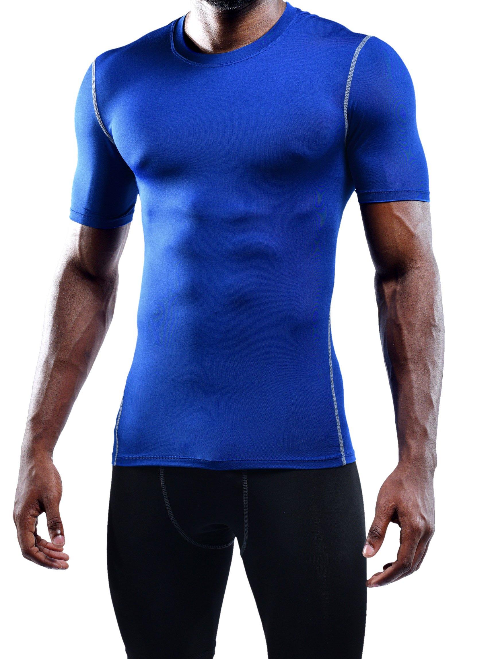 Neleus Men's Workout Athletic Compression Shirts Pack of 3