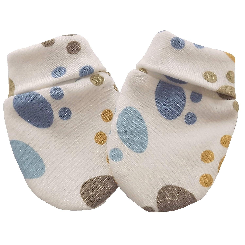 Guanti in cotone organico neonato antigraffio multi colore del piede Multi-Color Foot 3-6 mesi Individual Company