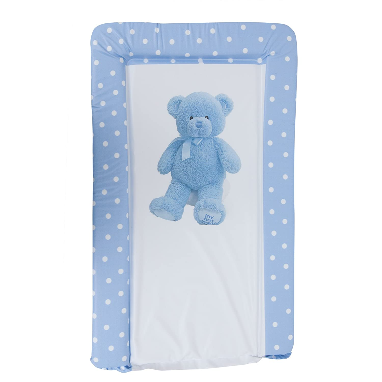 Baby Teddy Bear Deluxe Padded Easy Clean Changing Mat (Boy & Girl Options) (19in x 31in) (Blue) Universal Textiles