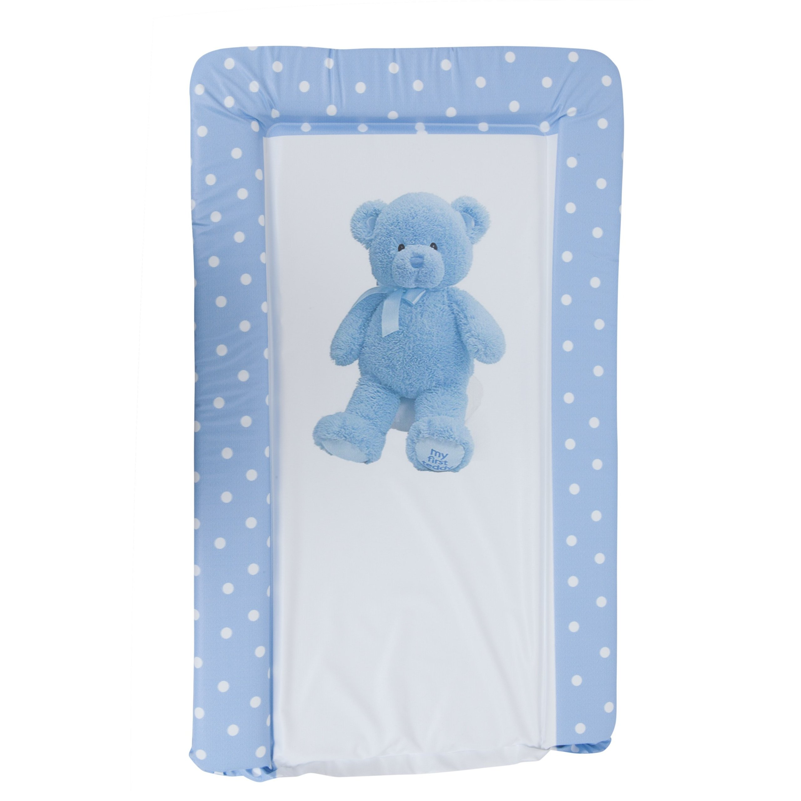 Baby Teddy Bear Deluxe Padded Easy Clean Changing Mat (Boy & Girl Options) (19in x 31in) (Blue)