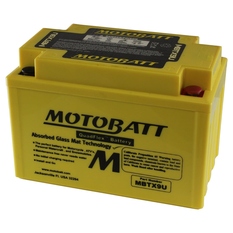 MOTOBATT MBTX9U Motobatt Bater/ía MBTX9U 12/V 10,5/A 160/cobre Factory activado quadflex AGM recargable