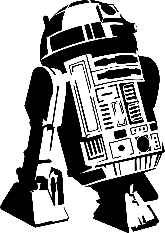Robot Star Wars Artisanat Peinture PixieBitz Cool R2D2/Pochoir/ Droid /190/MU Mylar A /30,5/x 20,3/cm/