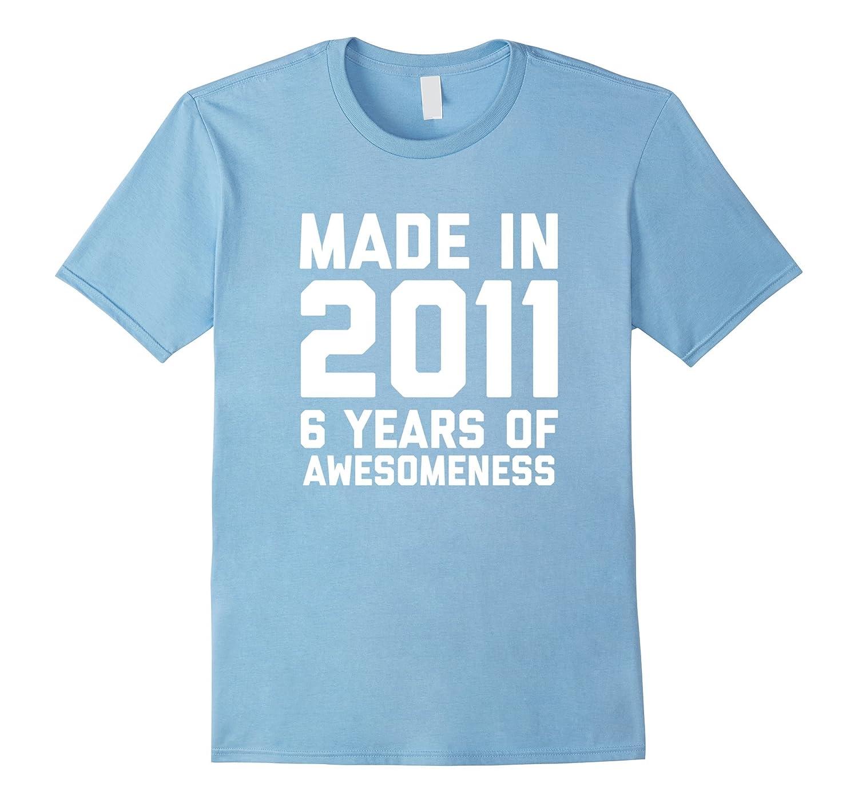 6th Birthday Shirt Gift Age 6 Year Old Boy Girl Tshirt Tee FL