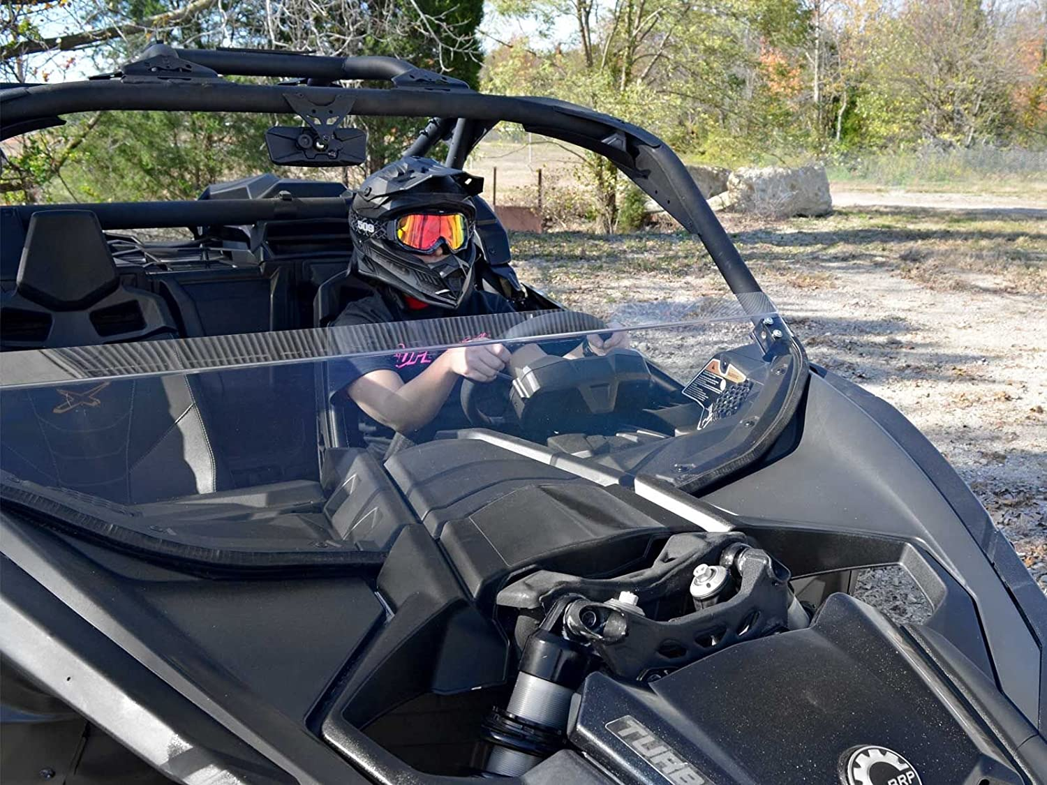Amazon.com: SuperATV Heavy Duty Half Windshield for Can-Am Maverick X3 900 / Turbo/X RS/X DS/X MR/MAX (2017+) - Clear Standard Polycarbonate: Automotive