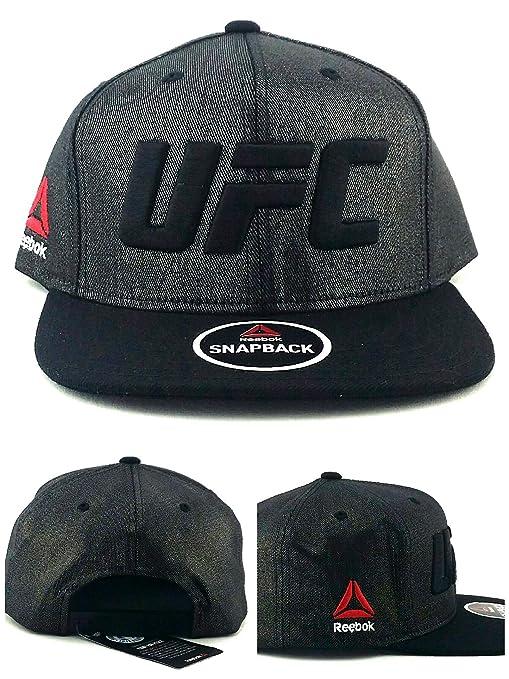 82ecaad10b6 Amazon.com   Reebok UFC RBK MMA Fighter Tonal Black on Black Waxed ...