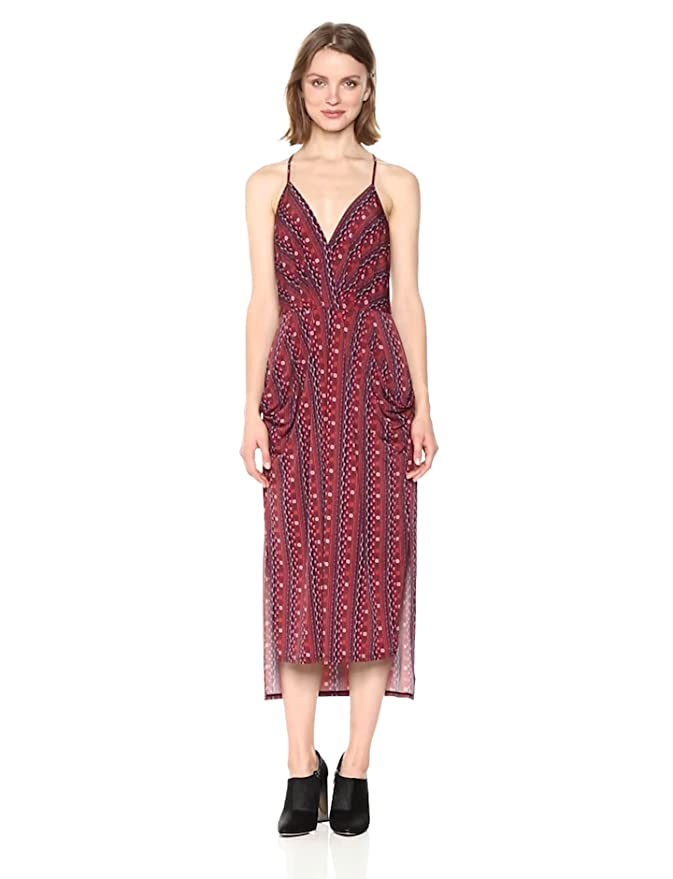 f076e407c1d5 BCBGeneration Women's Printed Midi Faux-Wrap Dress at Amazon Women's  Clothing store: