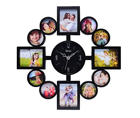 ARPAN Plastic Photo Frame Clock 1 Multi Aperture Photo/Picture with ...