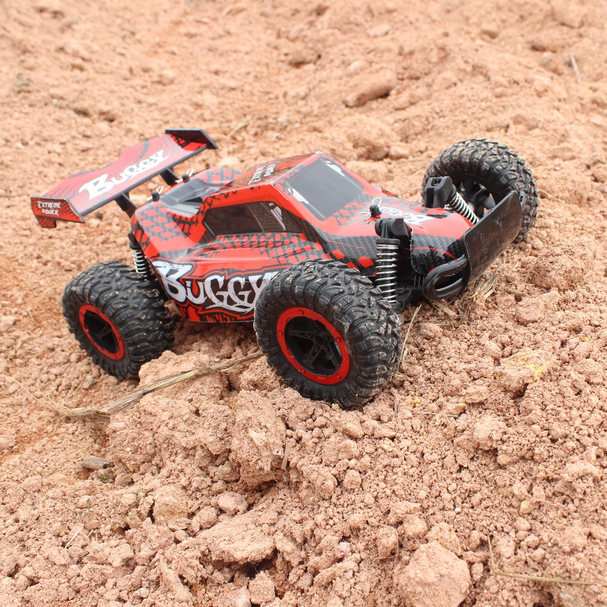 Hugine 1:16 2.4G RC Car Off Road Vehicle High Speed Racing Monster Truck 20km/h Buggy Independent Suspension Radio Control Cars Toys (Red)