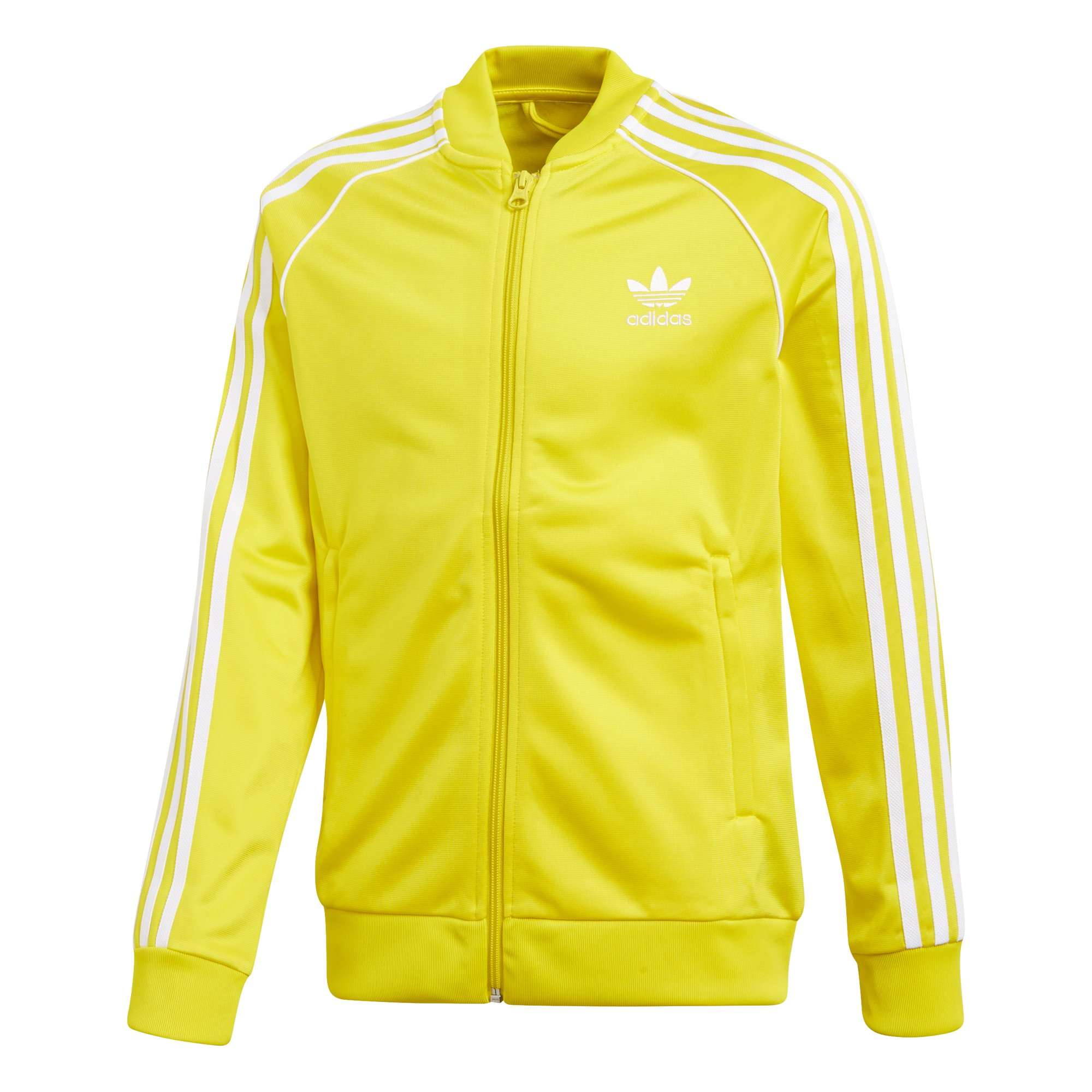 adidas Originals Boys' Big Originals Superstar Tracktop, Yellow, L