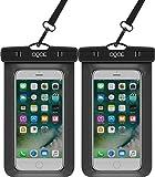 OQOE Universal Waterproof Case - Black (2 Pack)