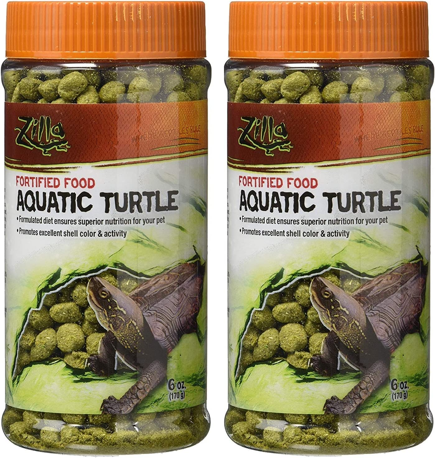 Zilla Aquatic Turtle Food (Set of 2)