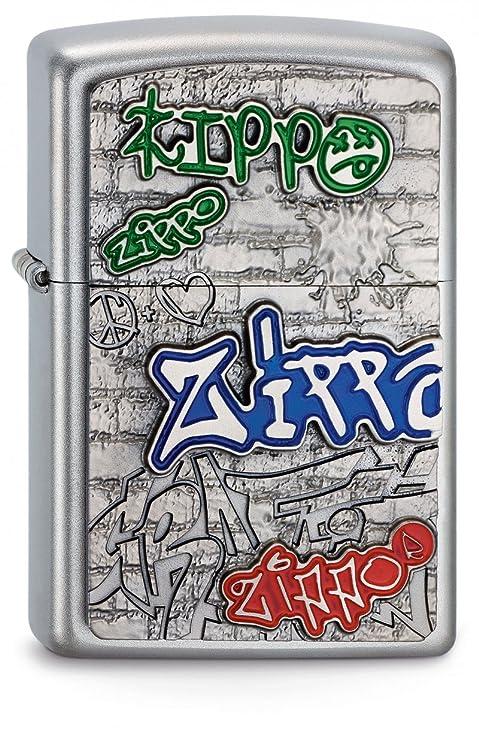 Zippo - Encendedor(Emblema en 3 D), diseño de Grafiti, Color ...