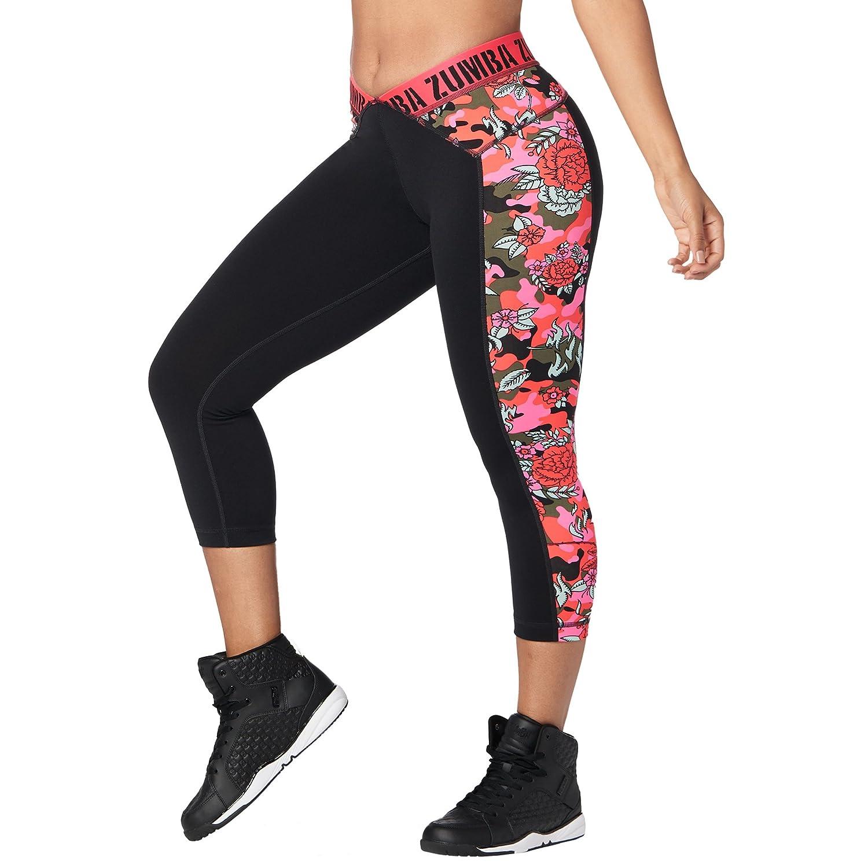 Zumba Women's Shaping Capri Workout Leggings Fashion Print
