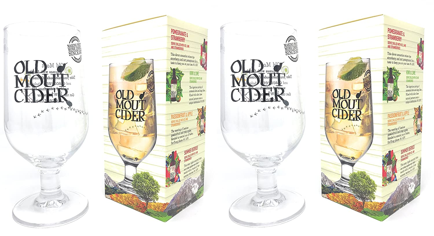 2 x Old Mout Cider Pint Glasses in Official Branded Gift Boxes (2 Glasses) Arc International Plc